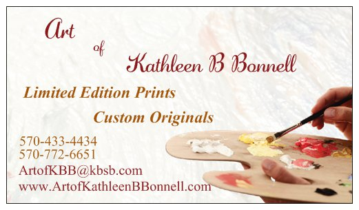 [Art of Kathleen B Bonnell Business Card]