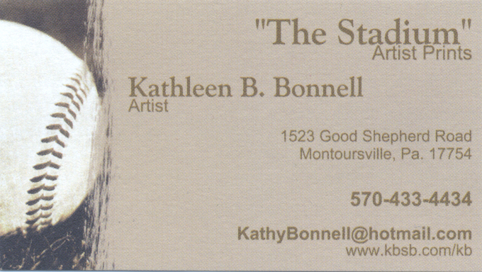 [The Stadium KB Bonnell Business Card]
